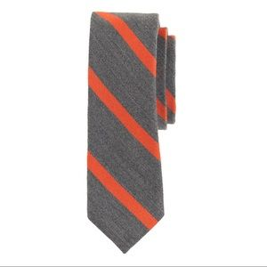 J. Crew Men's English Wool Silk Tie Stripe